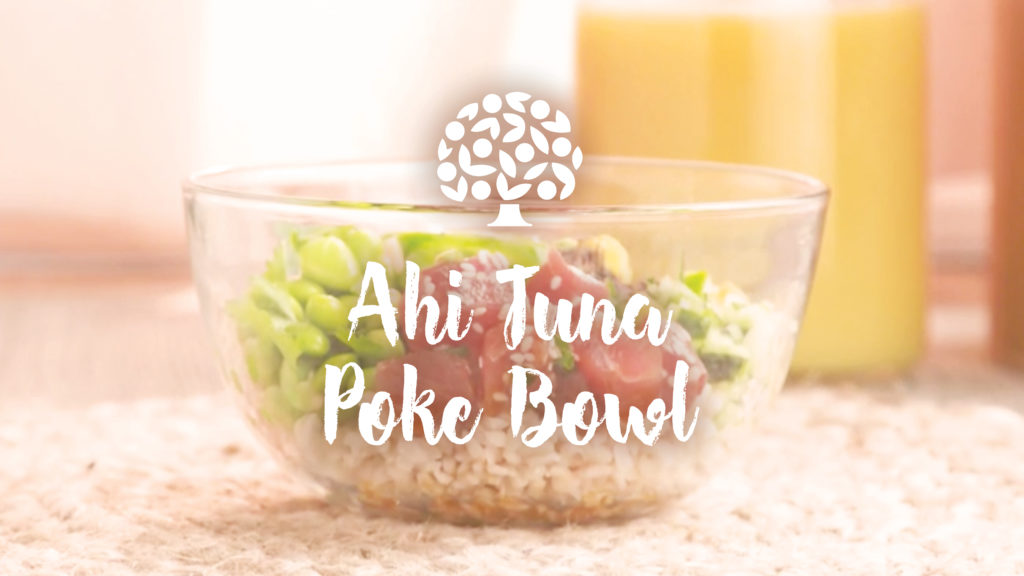 Image of a poke bowl using florida orange juice