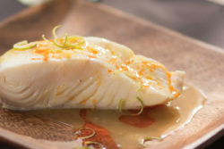 Steamed Orange Halibut