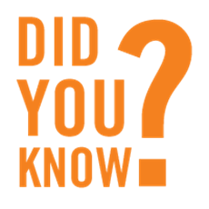 """In Orange Text is the phrase """"Did you know?"""""""